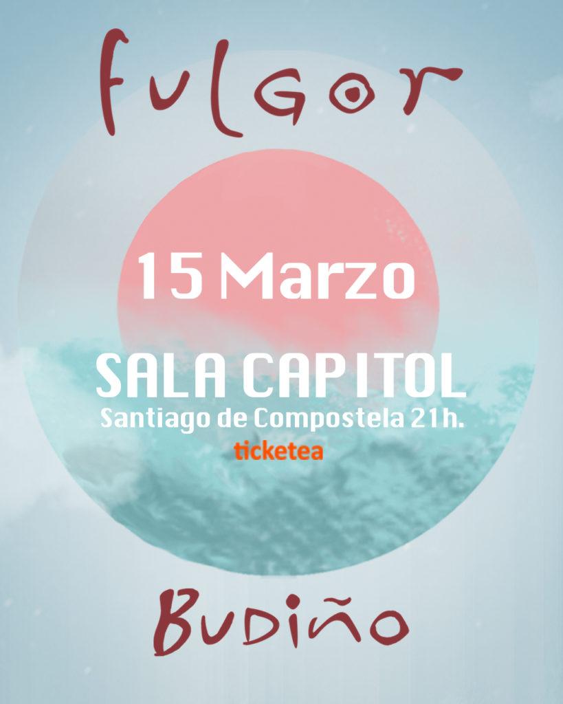"🌺 BUDIÑO ""Fulgor"" ▪️ 15 de MARZO. ▪️ SALA CAPITOL. ▪️ (Santiago de Compostela) 21 h. . 🎫 MERCA A TÚA ENTRADA AQUÍ: https://www.ticketea.com/entradas-concierto-budino-present…/ . @budino_music @draculajosebecerra @tonrisco @braismoran @arturo_abrigueiro @elenas_ou Ton Risco Arturo Abrigueiro Brais Morán #FranSanz Budiño #BudiñoFulgor Sala Capitol www.budinomusic.com"